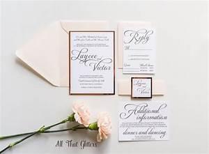 blush and rose gold wedding invitation mirrored wedding With rose gold foil wedding invitations diy