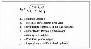 Herstellkosten Des Umsatzes Berechnen : losgr e optimale definition ~ Themetempest.com Abrechnung