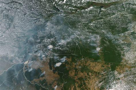 amazon rainforest fires     space
