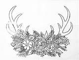 Coloring Pages Drawing Deer Antler Acrylic Horns Printable Traceables Painting Paint Antlers Traceable Angela Anderson Sheets Flowers Spray Canvas Angelafineart sketch template