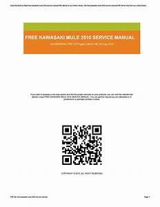Free Kawasaki Mule 2510 Service Manual Pdf
