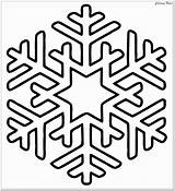 Snowflake Coloring Winter Pages Christmas Clipart Printable Easy Simple Preschoolers Vectors Merry Pattern Related Tribal Svg Tags sketch template