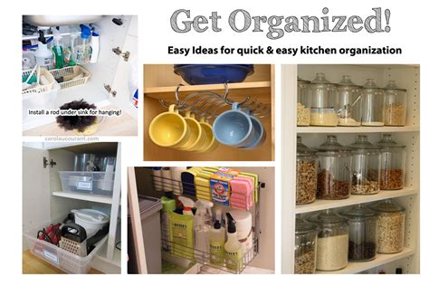 Kitchen Organization Tools by Kitchen Organization For The Non Crafty Busy