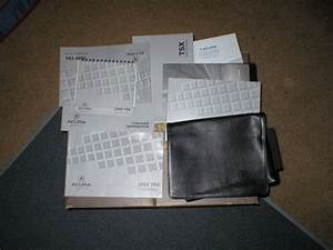 2009 Acura Tsx Owners Manual Set With Cover Case