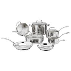 cuisinart french classic tri ply stainless  piece cookware set  open stock bed bath