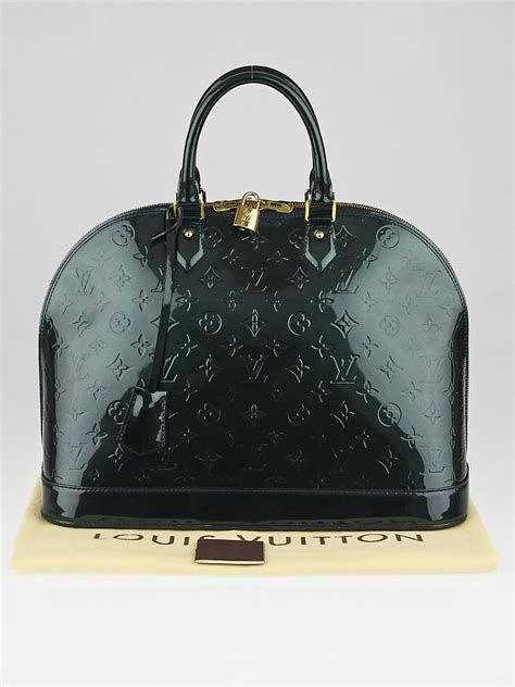 louis vuitton blue nuit monogram vernis alma gm bag