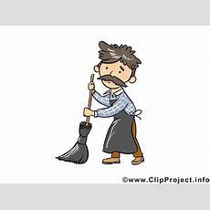 hausmeister strassenfeger clipart bild cartoon gratis