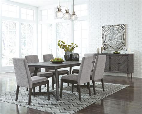 besteneer dark gray rectangular dining room table   tables milwaukee furniture