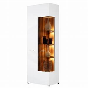 Waschmaschinenschrank Mit Türen : vitrine vogue gro mit 2 t ren nussbaum wei hochglanz ~ Eleganceandgraceweddings.com Haus und Dekorationen