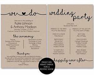 wedding program template classic wedding program template With wedding ceremony itinerary template