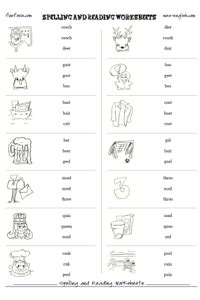 free spelling and phonics worksheets
