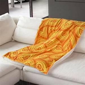 plaid pour canape avec photos impression de qualite With nettoyage tapis avec plaid canapé orange