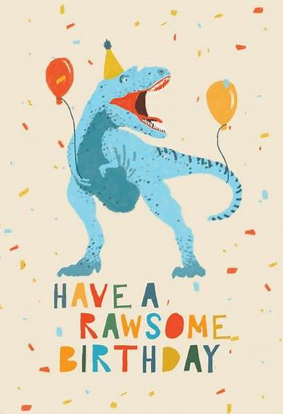 Birthday Dinosaur Cards Printable Fiesta Card Greetings