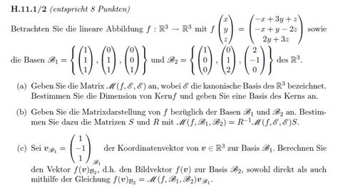lineare algebra  fragen zu kern basisaenderung und