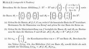 Matrix Kern Berechnen : lineare algebra 5 fragen zu kern basis nderung und ~ Themetempest.com Abrechnung