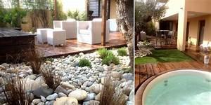 amenagement d39un jardin d39immeuble montelimar creation With amenagement terrasse avec spa
