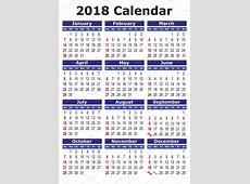 2018 calendar in english ~ Illustrations ~ Creative Market