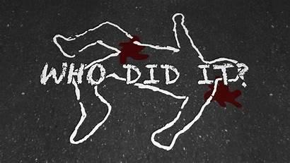 Crime Murder Scene Outline Chalk Animation Background
