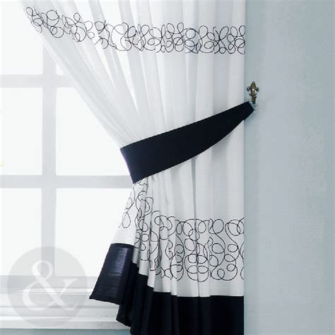 black  white kitchen curtains images   buy