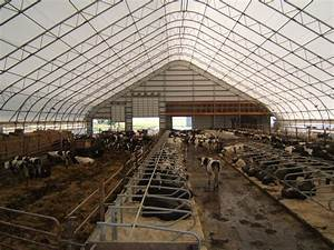 14039 x 22039 dairy barn fabric building With coverall barn