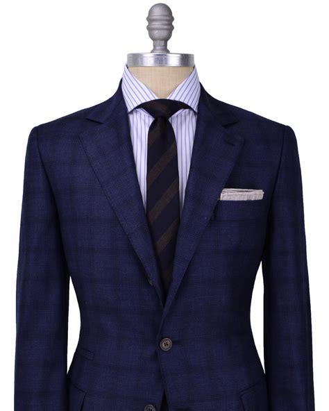 Brunello Cucinelli Navy Plaid Suit in Blue for Men (navy