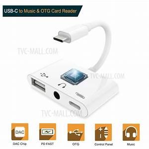 Type C To 3 5mm Headphone Jack Otg Adapter Converter Usb
