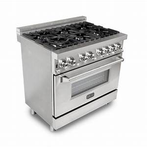 Zline Kitchen And Bath Professional 36 In  4 6 Cu  Ft  6 Electric Oven Range In