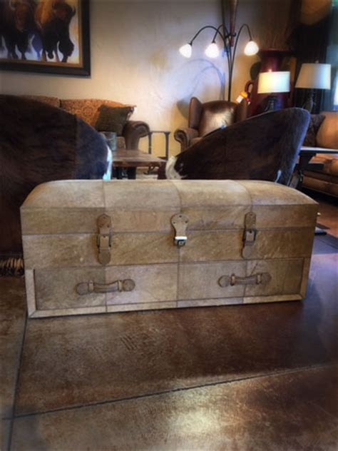 Cowhide Store by Cowhide Storage Trunk With Drawer Nw Home Interiors