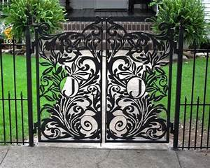 custom garden gate metal garden gate with monogrammed With iron gate letters