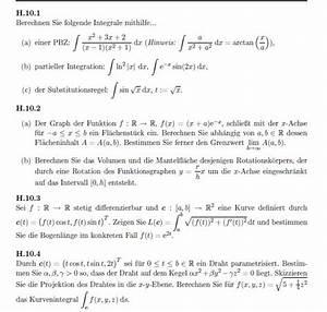 Integration Berechnen : integral integration vier umfangreiche aufgaben partialbruchzerlegung mantelfl che eines ~ Themetempest.com Abrechnung