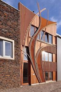 Unique, Urban, House, Facade, Design, By, 24h, Architects