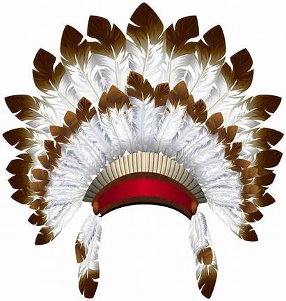 Native Headdress American Clipart Clip Hats Indian