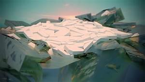 Ice  Sea  Sunset  Minimalism  Voronoi Diagram  Blender
