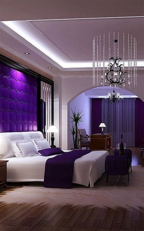 purple wall decor for bedrooms romantic bedroom decorating ideas purple master bedroom 19572 | 873838730615d7b03911ef52d4f0eebe