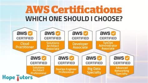 top aws certifications choosing