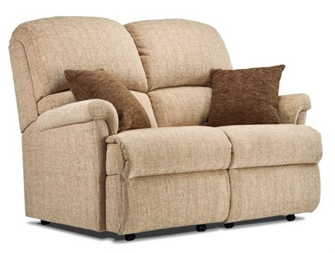 Small 2 Seater Settees by Nevada Small Fabric Fixed 2 Seater Settee Sherborne