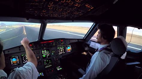 lanzarote gcrr cockpit view landing rwy   dusk youtube