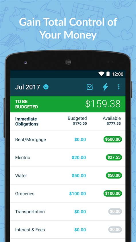 ynabbudget personal finance android apps  google play