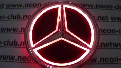 led light  mercedes emblem led tail lights
