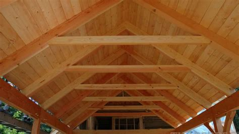 collar tie truss timberpeg timber frame post  beam