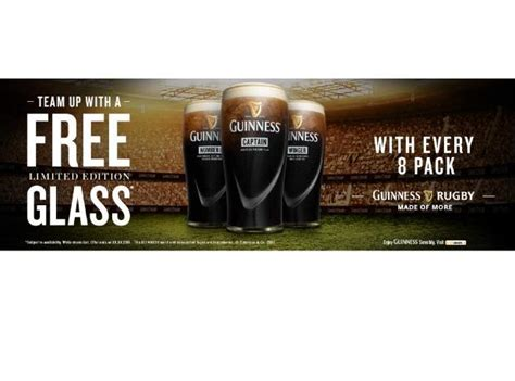 Guinness Launches Limited Edition Rugby Glassware