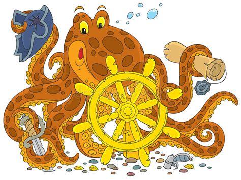 Octopus Pirate Stock Illustration. Image Of Wildlife