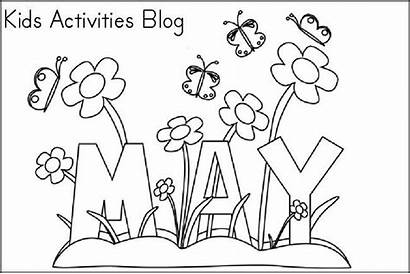 Coloring Pages Printable Month Sheets Spring Activities