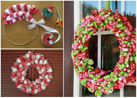 christmas ribbon wreath pictures   images