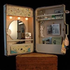 Spiegel Deko Ideen : deko ideen alten koffer kosmetik spiegel m bel ~ Orissabook.com Haus und Dekorationen