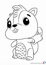 Hatchimals Coloring Skunkle Draw Printable Step Drawing Tutorials Drawingtutorials101 Then Toys Bettercoloring sketch template