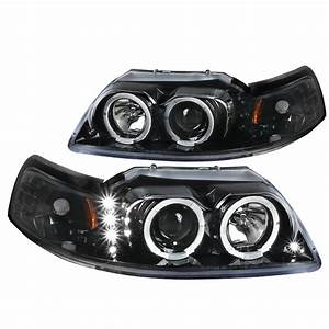 Spec-D Tuning Led Projector Headlights for 1994-1998 Ford Mustang Head Light Assembly Left ...