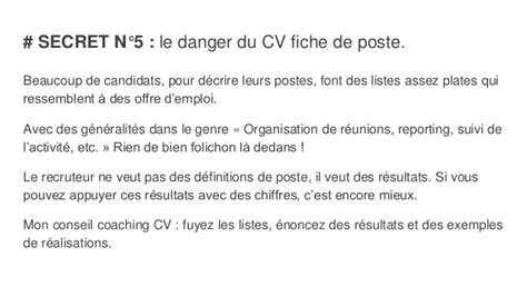 écrire Un Cv Exemple by Coaching Cv 233 Crire Un Cv Gagnant Conseils Et Exemples D