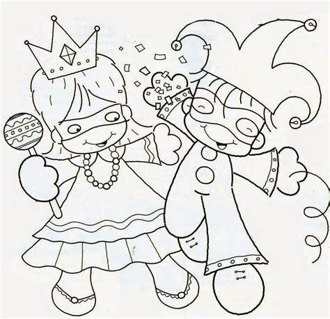 Desenhos de Carnaval para Imprimir e Colorir Toda Atual