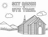 Ute Sky Ranch Coloring Trail Skyranch Camps sketch template